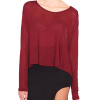 Tea Time Jersey Top - Red
