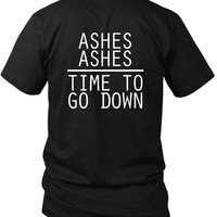 Melanie Martinez Quote Ashes Ashes Time To Go Down 2 Sided Black Mens T Shirt