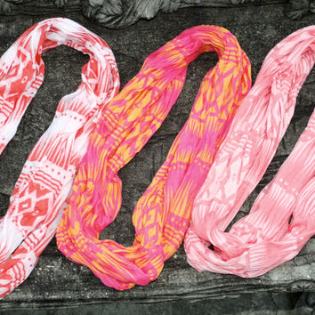 Tribal Infinity Scarves - 7 Options!