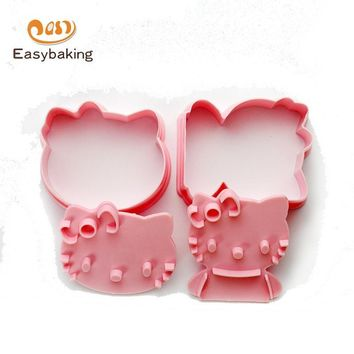 Hello Kitty Cookie Mold Kitchen Baking Tools 3D Biscuit Mold Cookie Cutters Cookie Stamps ECC-008