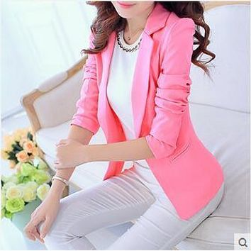 Spring and Autumn women's long-sleeved suit jacket female leisure suit womens Blazers