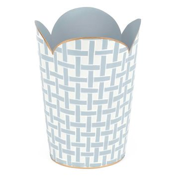 Basketweave Tulip Trash Can