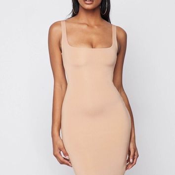 Same Skin Seamless Bodycon Dress Nude