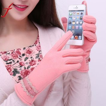 2016 New Fashion   Screen 1Pair Womens Winter  Cotton Out door Warm women's gloves