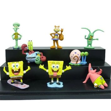 2PCS Spongebob Fish Tank Aquarium Ornament Landscaping