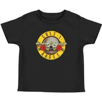 Guns N Roses Boys' Bullet Toddler Childrens T-shirt Black Rockabilia