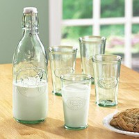 Milk Bottle & Glasses