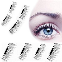 4 Pcs/Pairs  Soft Hair Magnetic Eyelashes Extension