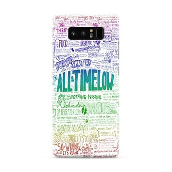 All Time Low Art Quotes Samsung Galaxy Note 8 Case