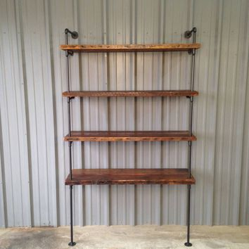 Industrial Rustic Chic Shelf with Antique Wood
