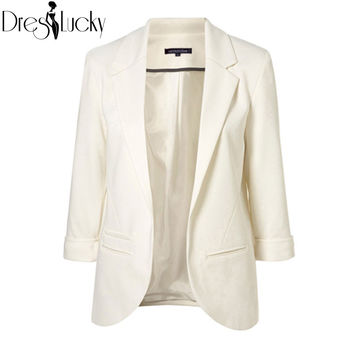 Blazer women 2015 autumn Candy Color Rolled up Sleeve boyfriend Style no buckle blazer feminino Slim Blazer free shipping
