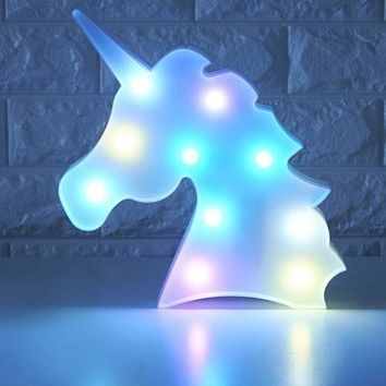 3D Unicorn LED Lamp