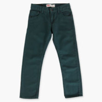 Boys' Levi's Big (8-20) 513 Slim Straight Green Corduroy Pants - Ponderosa Pine - Kids