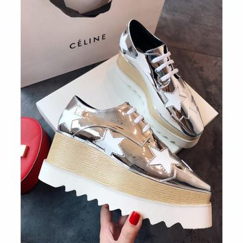 Celine STELL McC RTNEY Star Shoes Collection Classic Women's Shoes silver