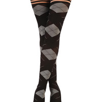 Kix'ies Kimmie Argyle Thigh High