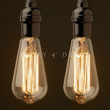 Fancy Industrial Filament Globes/Bulbs - Pack of 2