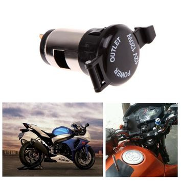 12V 120W Car Motorcycle Boat Tractor Cigarette Lighter Power Socket Outlet Plug with Waterproof Lid Cover Moto Accessories