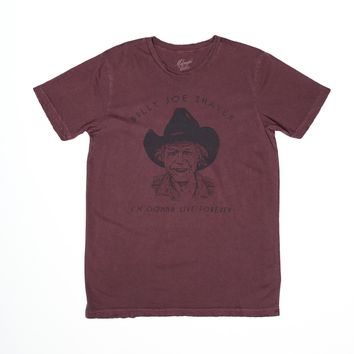 Live Forever Billy Joe Shaver Men's Crew T-Shirt