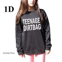 Teenage Dirtbag Sweatshirt One Direction crewneck Sweater 1D band Wheatus Lyrics Inspired women men from CelebriTee