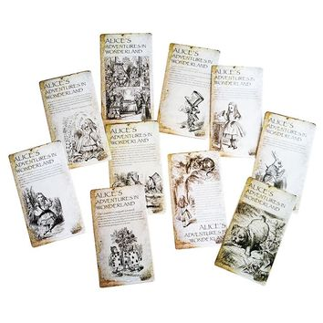 20 Pcs/lot  New Vintage Style Alice's Adventure In Wonderland Post Card Set Greeting Card Christmas Gift