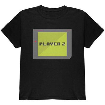 PEAPGQ9 Halloween Old School Gamer Player 2 Youth T Shirt