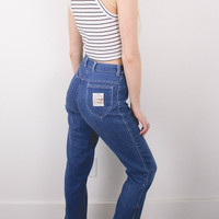 Vintage (SMALL) Ankle 70s High Waisted Denim Jeans