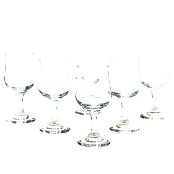 Czechoslovakian Crystal Cordial Glasses