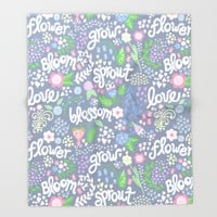 How Does Your Garden Grow Throw Blanket by Noonday Design   Society6