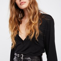 Free People Royale Leather Corset Belt