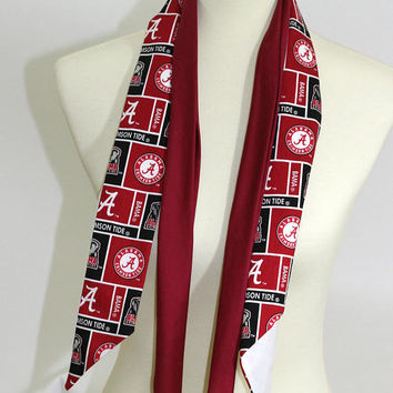 Pair Men's Ties Square Dance Maroon & Patterned Alabama Tie Football Theme | Scarf Ring Ties | Cowboy Western Ties | Cloth Ties Sq Dance