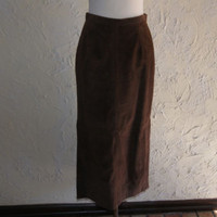 Collectible SONOMA Jean Company Brown Suede Skirt Maxi Skirt Size 6 With Tags