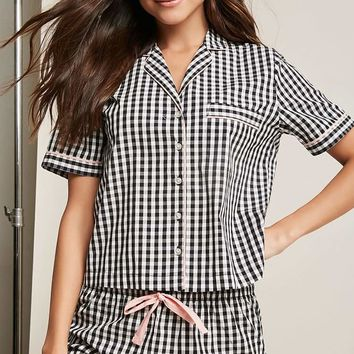 Gingham Pajama Set
