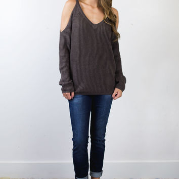 Claire Cold Shoulder Sweater