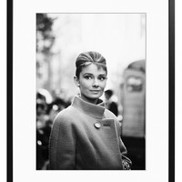Audrey Hepburn by John Springer (Framed)