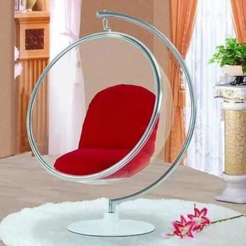 Top,bubble chair, indoor swing egg chair, space sofa, transparent sofa,Hanging Bubble Chair+Acrylic Material+Transparent Color