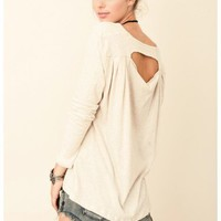 Jet by John Eshaya - Long Sleeve Open Back Henley