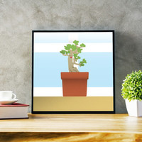 Beloved Bonsai Tree Print - Bonsai Tree Poster - Tree Print - Succulent Poster - Succulent Print - Plant Decor - Modern Office Wall Art