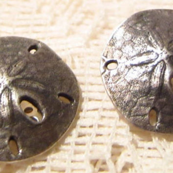 James Avery Sterling Silver Sand-Dollar Clip On Earrings