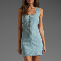 One Teaspoon Freaky Love Denim Dress in Blue Moon from REVOLVEclothing.com