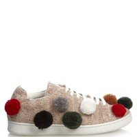 Pompom-embellished knitted trainers | Joshua Sanders | MATCHESFASHION.COM US