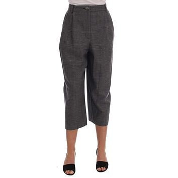 Dolce & Gabbana Gray Wool Capri Pants