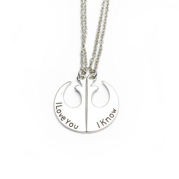 New Arrival Gift Shiny Jewelry Stylish Starwars Couple Pendant Necklace [8026072327]
