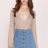 Arabella Button Down Denim Skirt