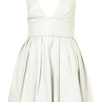 **LIMITED EDITION White Leather Flippy Dress - Dresses - Apparel - Topshop USA