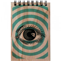 Wood Notepad Pop Art Eye Small