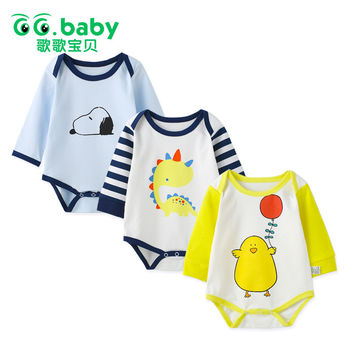 Newborn 3pcs/lot Baby Girls Bodysuits Cartoon Baby Body Boy Long Sleeve Infantil Baby Menino Girl Bodysuit Baby Winter Clothes