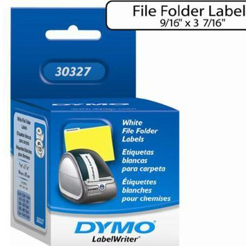 Dymo White 1-up File Folder Labels