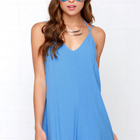 In Short Order Blue Romper