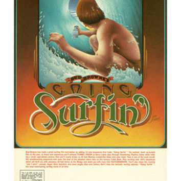 1976 Going Surfin Surf Movie Ad Fine Art Print