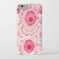 Flowery Pink and White iPhone & iPod Case by Jennifer Warmuth Art And Design